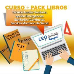 Curso + Pack Libros. Técnico Auxiliar Sanitario, opción Emergencias Sanitarias/Conductor. Servicio Murciano de Salud