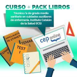 Curso + Pack Libros. Técnico/a de grado medio sanitario en cuidados auxiliares de enfermería. Instituto Catalán de la Salud (ICS)