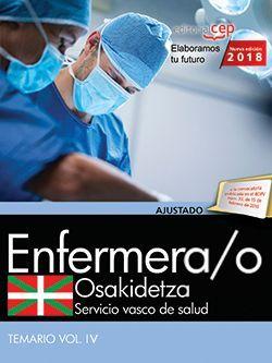 Enfermera/o. Servicio vasco de salud-Osakidetza. Temario. Vol.IV