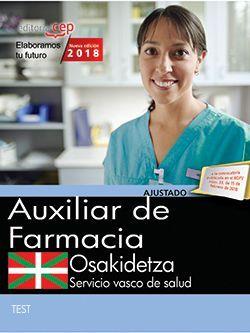 Auxiliar de Farmacia. Servicio vasco de salud-Osakidetza. Test