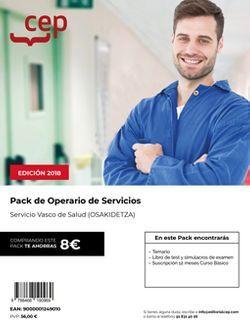 Pack de libros y Acceso Gratuito. Operario de Servicios. Servicio vasco de salud-Osakidetza.