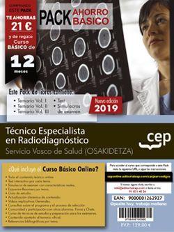 Pack de libros y Acceso Gratuito. Técnico Especialista Radiodiagnóstico. Servicio vasco de salud-Osakidetza.