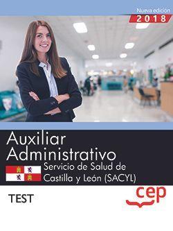 Auxiliar Administrativo. Servicio de Salud de Castilla y León (SACYL). Test