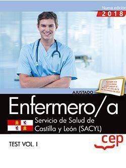 Enfermero/a. Servicio de Salud de Castilla y León (SACYL). Test Vol. I