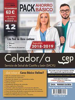 Pack Ahorro Básico. Celador. Servicio de Salud de Castilla y León (SACYL).  Incluye Temarios, Test y Supuestos Prácticos, Simulacros de Examen y Curso Básico on Line.