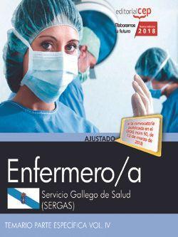 Enfermero/a del Servicio Gallego de Salud (SERGAS). Temario Parte Específica Vol. IV.