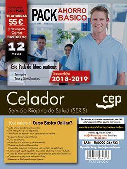Pack Ahorro Básico. Celador. Servicio Riojano de Salud (SERIS).  Incluye Temarios I, II, Test, Simulacros de Examen y Curso Básico on Line.