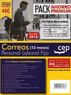 PACK AHORRO PREMIUM (12 meses). Personal Laboral Correos. (Temario, Test, Simulacros, Psicotécnicos + Curso Premium 12 meses)