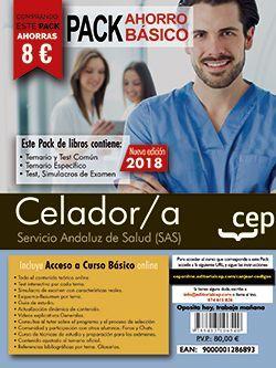 PACK AHORRO BÁSICO. Celador. Servicio Andaluz de Salud (SAS).  (Incluye Temario y Test Común, Temario Específico y Test, Simulacros de Examen y Curso Básico on Line)