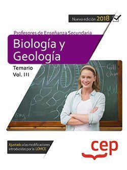 Cuerpo de Profesores de Enseñanza Secundaria. Biología y Geología. Temario Vol. III.