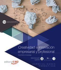 Creatividad e innovación empresarial y profesional (ADGD059PO). Especialidades formativas
