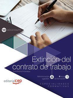 Extinción del contrato de trabajo (ADGD106PO). Especialidades formativas