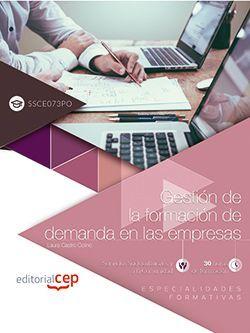 Gestión de la formación de demanda en las empresas (SSCE073PO). Especialidades formativas