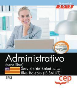Administrativo (turno libre). Servicio de Salud de las Illes Balears (IB-SALUT). Test