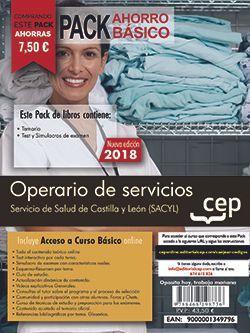 PACK AHORRO BASICO. Operario de servicios. Servicio de Salud de Castilla y León (SACYL). (Incluye Temario, Test, Simulacros de Examen y Curso Básico on Line)