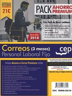 PACK AHORRO PREMIUM (3 meses). Personal Laboral. Correos. (Temario, Test, Simulacros, Psicotécnicos + Curso Premium 3 meses)