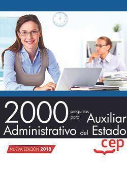 2000 preguntas para Auxiliar Administrativo del Estado