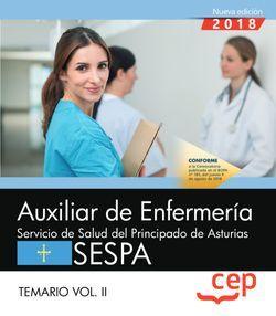Auxiliar de Enfermería del Servicio de Salud del Principado de Asturias. SESPA. Temario Vol.II