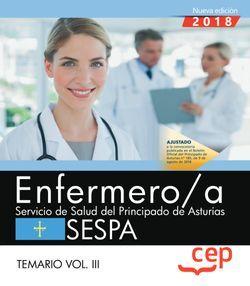 Enfermero/a del Servicio de Salud del Principado de Asturias. SESPA. Temario Vol.III