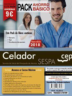 PACK AHORRO BASICO. Celador del Servicio de Salud del Principado de Asturias. SESPA. (Incluye Temario y Test general, Temario y Test específico y Simulacros + Curso Básico 12 meses)