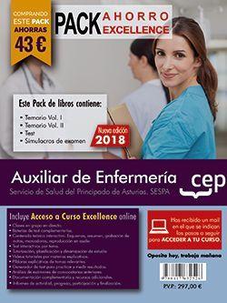 PACK AHORRO EXCELLENCE. Auxiliar de Enfermería del Servicio de Salud del Principado de Asturias. SESPA. (Incluye Temarios Vol. I, II, Test y Simulacros + Curso Excellence 6 meses)