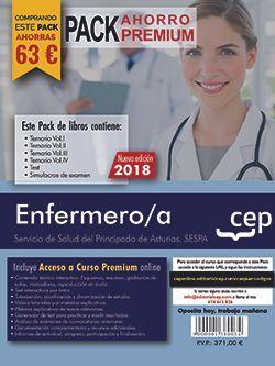 PACK AHORRO PREMIUM. Enfermero/a del Servicio de Salud del Principado de Asturias. SESPA. (Incluye Temarios Vol. I, II, III y IV, Test y Simulacros + Curso Premium 6 meses)