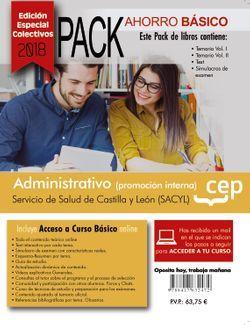 PACK AHORRO BÁSICO. Administrativo (promoción interna). Servicio de Salud de Castilla y León (SACYL). (Incluye Temario Vol. I y II, Test y Simulacros + Curso Básico 12 Meses) (EDICIÓN ESPECIAL COLECTIVOS)