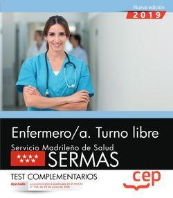 Enfermero/a. Turno libre. Servicio Madrileño de Salud (SERMAS). Test complementarios
