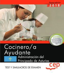 Cocinero/a Ayudante de la Administración del Principado de Asturias. Test y Simulacros de examen