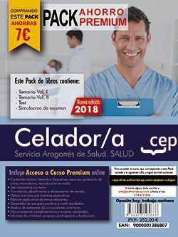 PACK AHORRO PREMIUM. Celador/a del Servicio Aragonés de Salud. (Incluye Temarios Vol. I y II, Test , Simulacros + Curso Premium On line 9 meses)