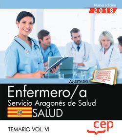 Enfermero/a del Servicio Aragonés de Salud. SALUD. Temario. Vol. VI