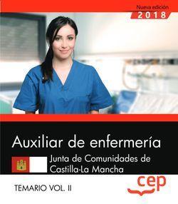 Auxiliar de Enfermería. Junta de Comunidades de Castilla-La Mancha. Temario Vol. II