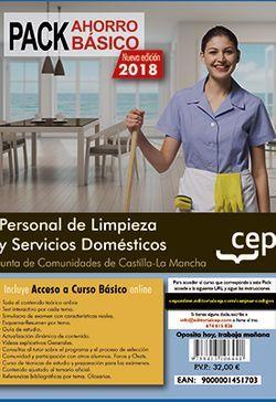 PACK AHORRO BASICO.  Personal de Limpieza y Servicios Domésticos. Junta de Comunidades de Castilla-La Mancha. (Incluye Temario y Test  + Curso Básico)