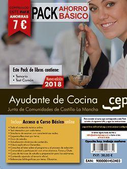 PACK AHORRO BASICO.  Ayudante de Cocina. Junta de Comunidades de Castilla-La Mancha. (Incluye Temario y Test + Curso Básico)