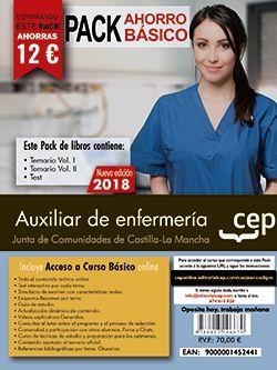 PACK AHORRO BASICO.  Auxiliar de Enfermería. Junta de Comunidades de Castilla-La Mancha. (Incluye Temarios Vol. I,  II y Test + Curso Básico)
