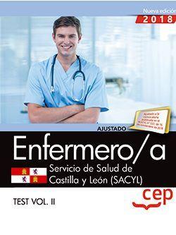 Enfermero/a. Servicio de Salud de Castilla y León (SACYL). Test Vol. II