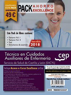 PACK AHORRO EXCELLENCE. Técnico en Cuidados Auxiliares de Enfermería. Servicio de Salud de Castilla y León (SACYL). (Incluye Temarios I, II, Test, Simulacros de Examen y Curso Excellence 6 Meses on Line)