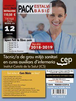 PACK AHORRO BASICO.  Tècnic/a de grau mitjà sanitari en cures auxiliars d'infermeria. Institut Català de la Salut (ICS).  (Incluye Temarios Vol. I, II, III, Test y Simulacros + Curso Básico On Line valorado en 79 €)