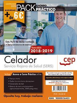 PACK AHORRO PRÁCTICO. Celador. Servicio Riojano de Salud  (SERIS). (Contiene Test y Simulacros de examen y Acceso a 3000 preguntas interactivas en CEP Online.)