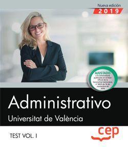 Administrativo. Universitat de València. Test Vol. I