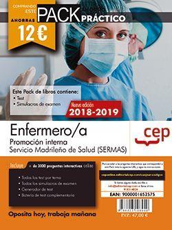 PACK AHORRO PRÁCTICO. Enfermero/a. Promoción interna. Servicio Madrileño de Salud (SERMAS). (Contiene Test y Simulacros de examen y Acceso a 3000 preguntas interactivas en CEP Online.)