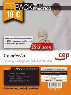 PACK AHORRO PRÁCTICO. Celador. Servicio Gallego de Salud (SERGAS). (Contiene 2000 preguntas para Celador/a y Simulacros de examen y Acceso a 3000 preguntas interactivas en CEP Online.)