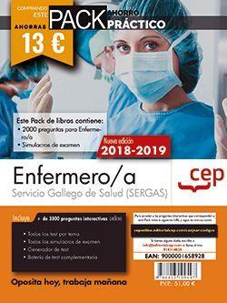 PACK AHORRO PRÁCTICO. Enfermero/a del Servicio Gallego de Salud (SERGAS). (Contiene 2000 preguntas para Enfermero/a y Simulacros de examen y Acceso a 3000 preguntas interactivas en CEP Online.)