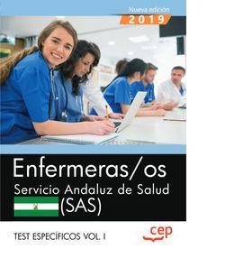 Enfermeras/os. Servicio Andaluz de Salud. SAS. Test específicos Vol.I