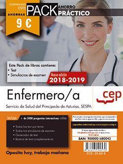 PACK AHORRO PRÁCTICO. Enfermero/a del Servicio de Salud del Principado de Asturias. SESPA. (Contiene Test y Simulacros de examen y Acceso a 3000 preguntas interactivas en CEP Online.)