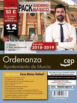 PACK AHORRO BASICO. Ordenanza. Ayuntamiento de Murcia (Incluye Temario, Test y Simulacros y Curso Básico on Line valorado en 45 €)