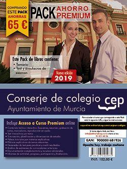 PACK AHORRO PREMIUM. Conserje de colegio. Ayuntamiento de Murcia. (Incluye Temario, Test y Simulacros y Curso Premium online 6 meses)