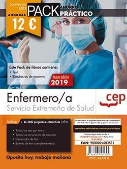 PACK AHORRO PRÁCTICO. Enfermero/a. Servicio Extremeño de Salud. (Incluye Test y Simulacros y Acceso a 3000 preguntas interactivas en CEP Online)