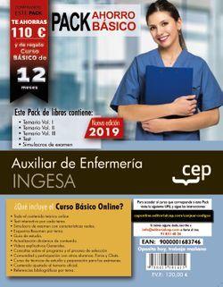 PACK AHORRO BÁSICO. Auxiliar de Enfermería. INGESA (Incluye Temario Vol.I, II y III, Test y Simulacros y Curso Básico Online valorado en 79€)