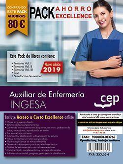 PACK AHORRO EXCELLENCE. Auxiliar de Enfermería. INGESA (Incluye Temario Vol.I, II y III, Test y Simulacros y Curso Excellence Online 6 meses)